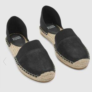 Eileen Fisher Tumbled Nubuck Leather Espadrille